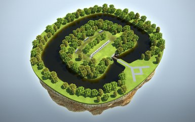 The fort in 3D